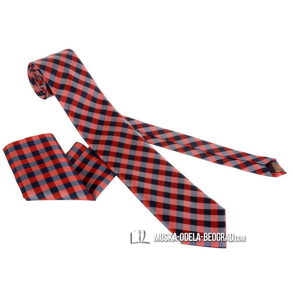 Karirane kravate #301 - Crvene kravate, Crvena kravata, prodaja, online, kravate, crvene, svadba, vencanje, beograd, novi sad, zajecar, cacak, uzice, obrenovac