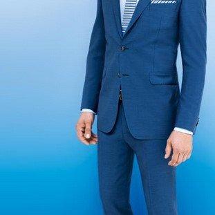 Muska odela - plava #445 - Muska odela - plava - modeli - 2015 - musko odelo za vancanje, svadbe, svadbu, maturu