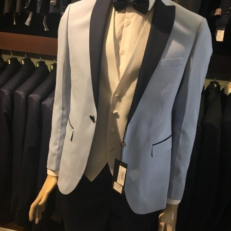 Muska odela #575 - plavo smoking odelo, plava odela, strukirana, muska odela beograd, model za 2018 god.