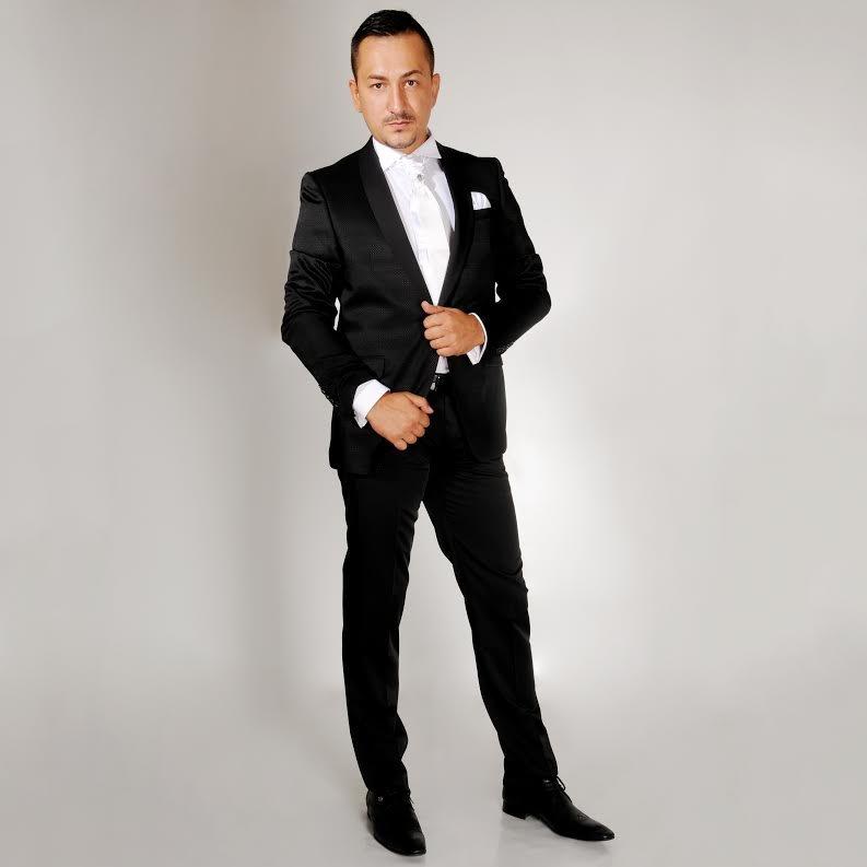Crni smoking #473 - Crni smoking, strukirani, lakovane cipele, strukirana muska odela, za vencanje, svadbe, svadbu, cene, cena, prodaja