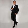 Crni smoking- Smoking, smoking odelo, strukirani, muska odela, strukirana, cene, cena, odela , za vencanje, svadbe, svadbu, 48, 50, 52, velicine
