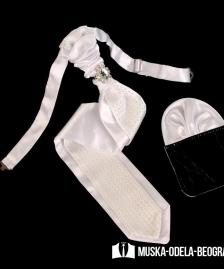 Kravata za smoking #503Bela kravata, kravate, za smoking, odela, za vencanje, svadbu, svadbe, odela za vencanje, beograd, novi sad