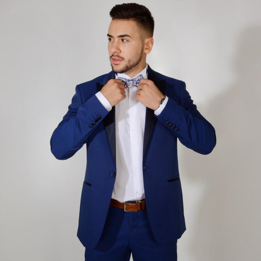Plavi smoking  #549 - Plavi, smoking, smokinzi, odelo, odela, za, svadbu, svadbe, strukirana, strukirano, slim fit, slike, slika, cene, cena, prodaja, novi sad