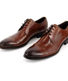 cipele #75Muške braon cipele od prirodne kože, nijansirana koža sa blagim prelazom iz braon u crnu boju. Kvalitetne i udobne muške cipele Beograd, povoljna cena, muska, odela, beograd, cipele, braon, koza, matura, svecane muške cipele