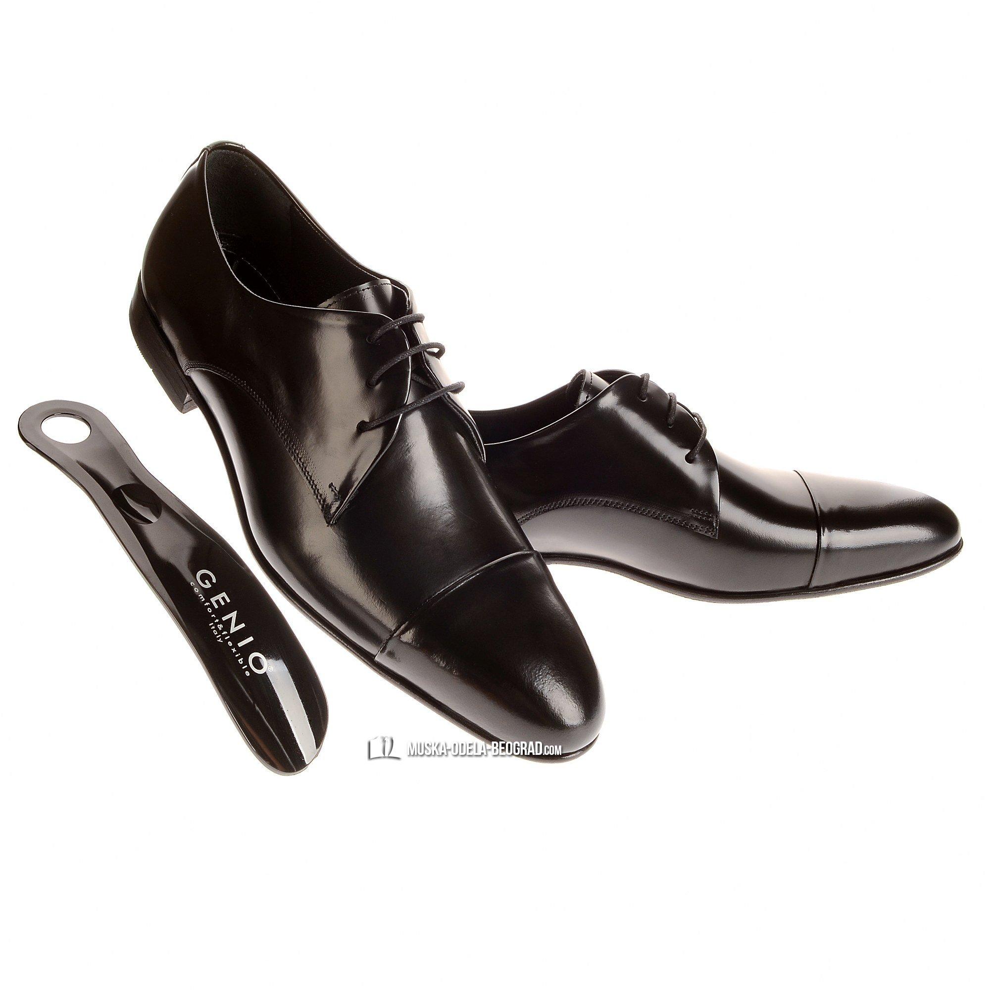 Muske cipele - Crne - Koza #36 - Muske cipele, za vencanje, za maturu, za svadbu, svecane