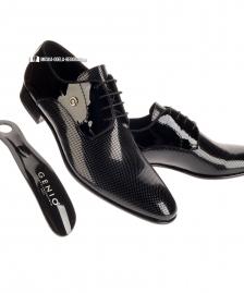 Muske cipele - lakovane crne #39Muske cipele, Beograd, Srbija, za vencanje, za svadbu, za matursko vece, svecane, lakovana koza